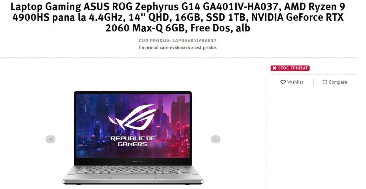 laptop AMD Ryzen 9 4900HS, zephyrus AMD Ryzen 9 4900HS, asus AMD Ryzen 9 4900HS
