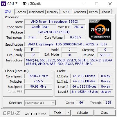 OC AMD Ryzen Threadripper 3990X, podkręcanie AMD Ryzen Threadripper 3990X