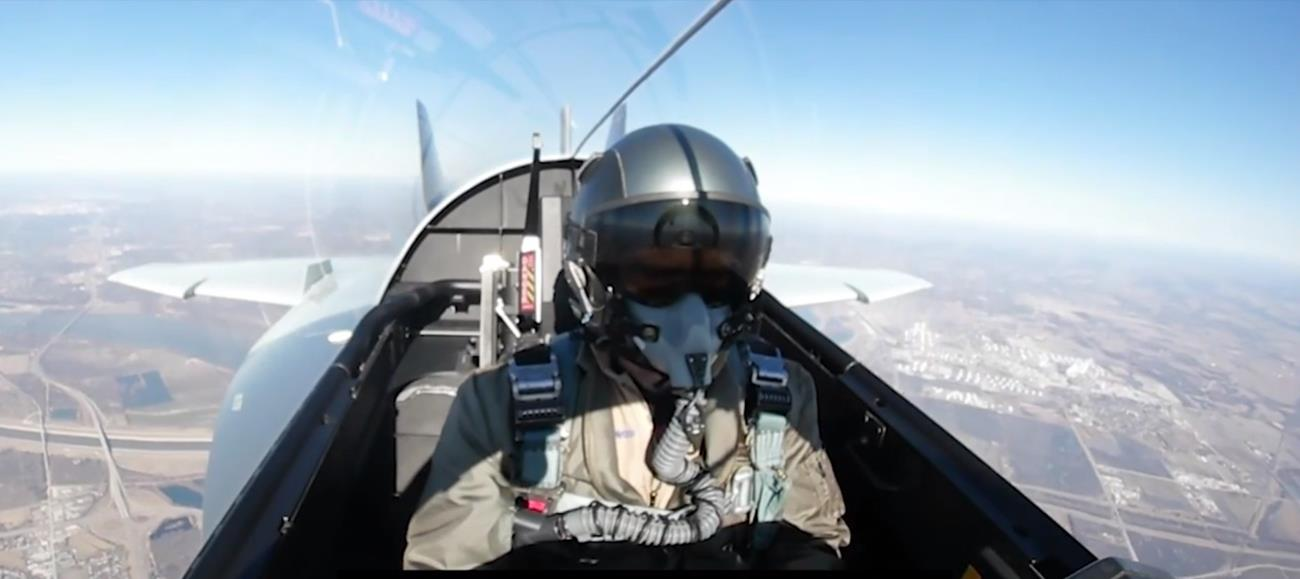 Boeing, test myśliwca, T-7A Red Hawk, wyłączenie silniku w locie