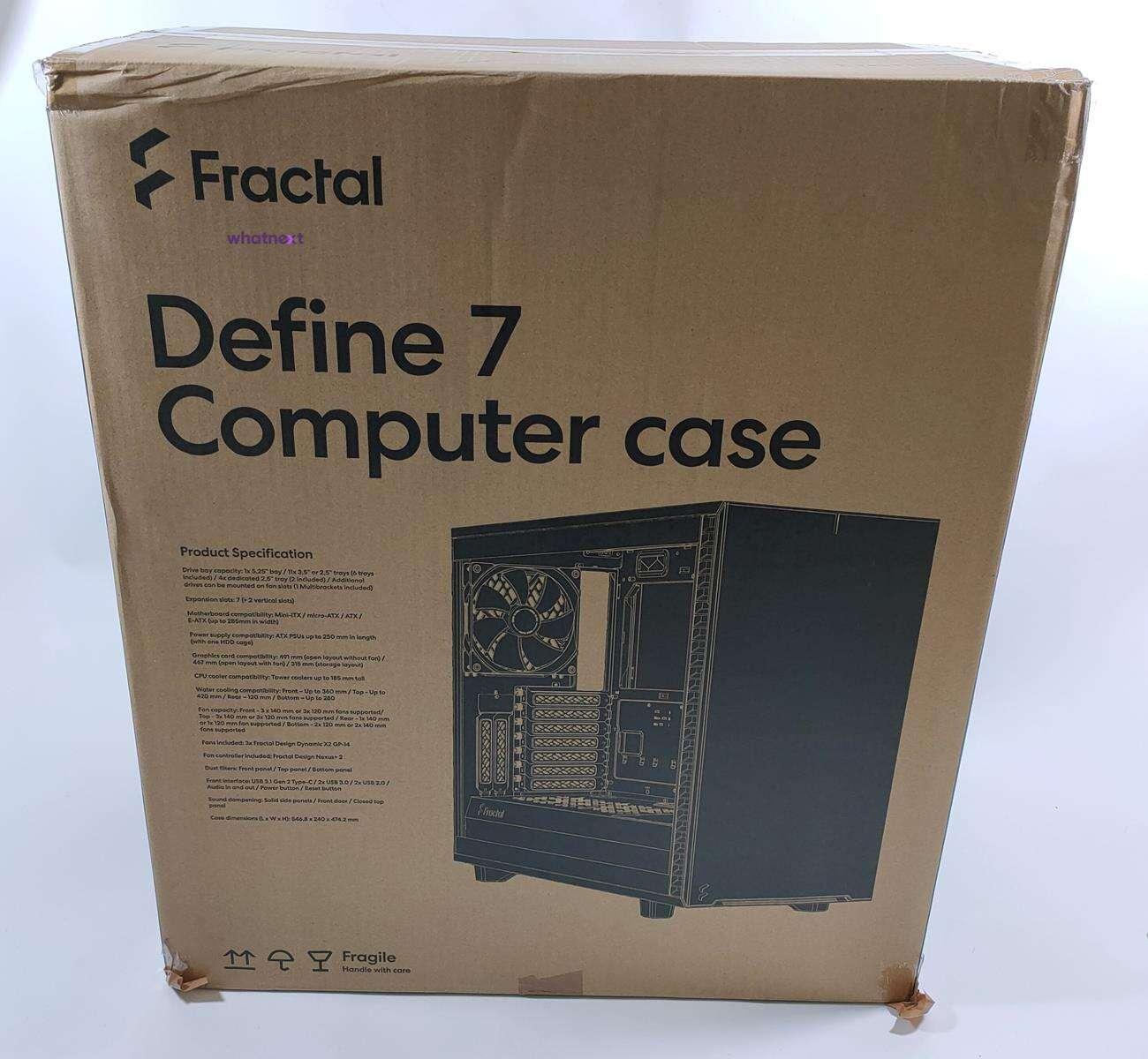 test Fractal Design Define 7, recenzja Fractal Design Define 7, review Fractal Design Define 7, opinia Fractal Design Define 7