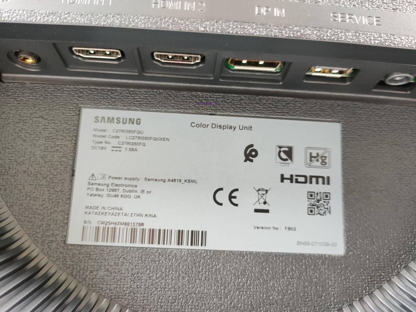 test Samsung C27RG50FQU, recenzja Samsung C27RG50FQU, review Samsung C27RG50FQU, opinia Samsung C27RG50FQU