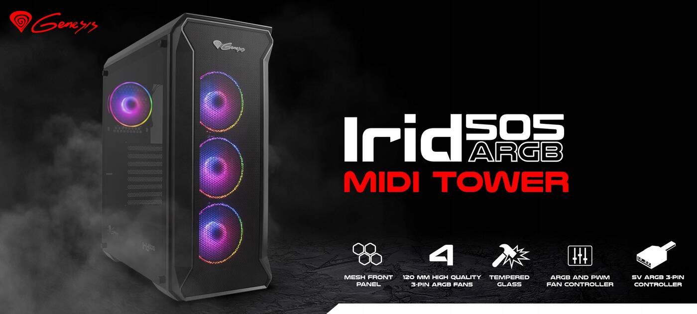 Test obudowy Genesis Irid 505 ARGB