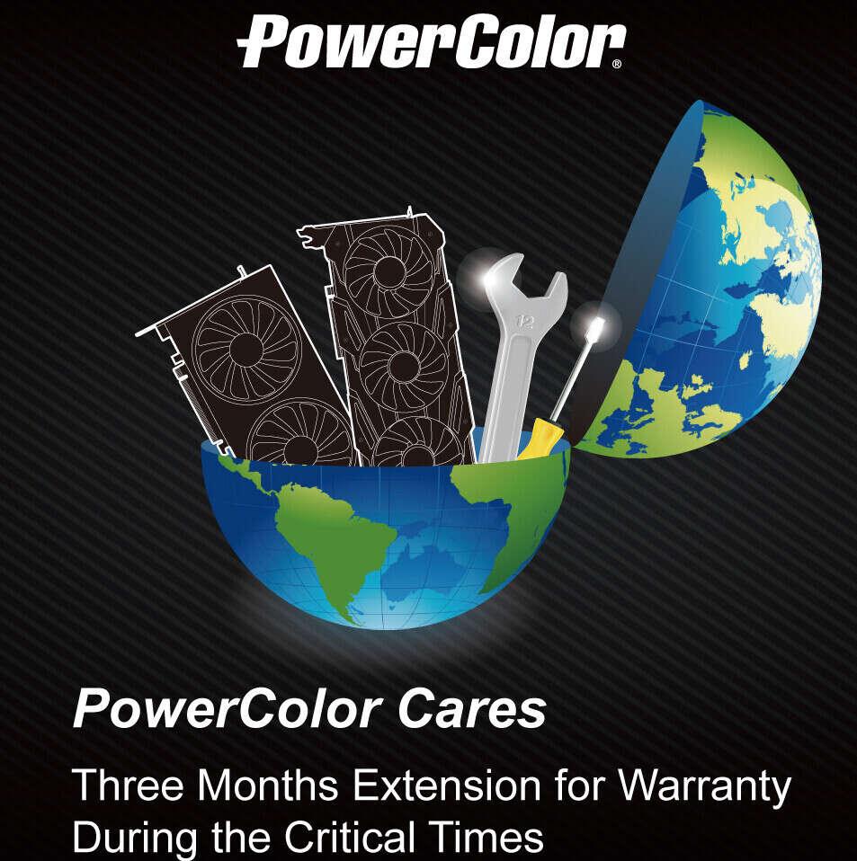 PowerColor wydłużenie gwarancji, PowerColor naprawa, PowerColor grafika