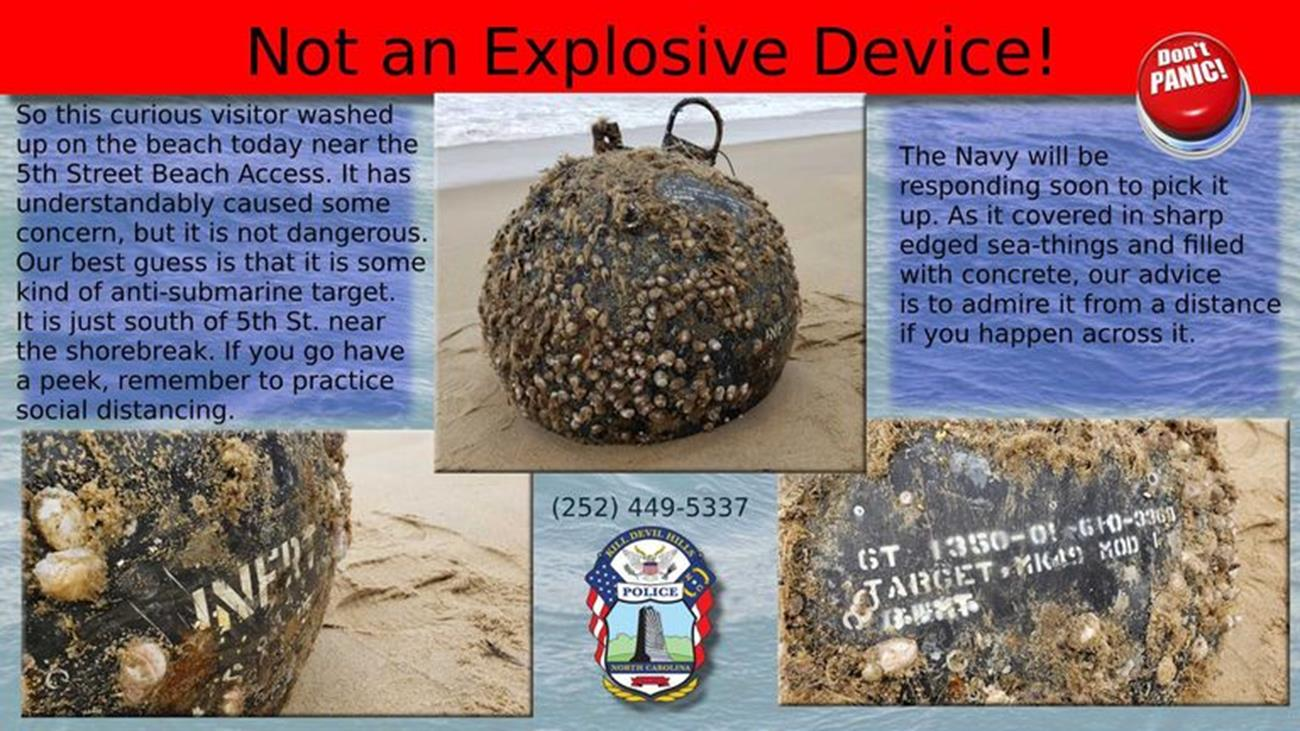 Tajemnicza morska mina zawitała na jedno z wybrzeży