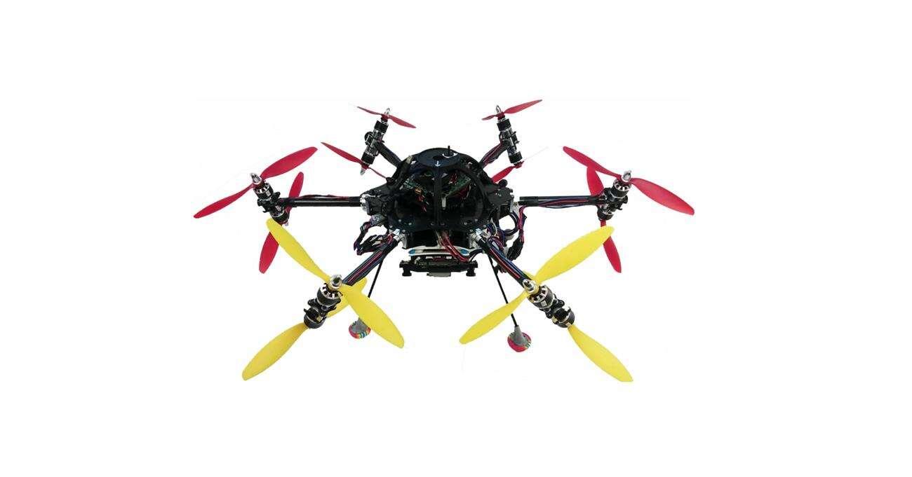 Elastyczność dwunastu śmigieł tego drona zapewnia mu wyjątkowość