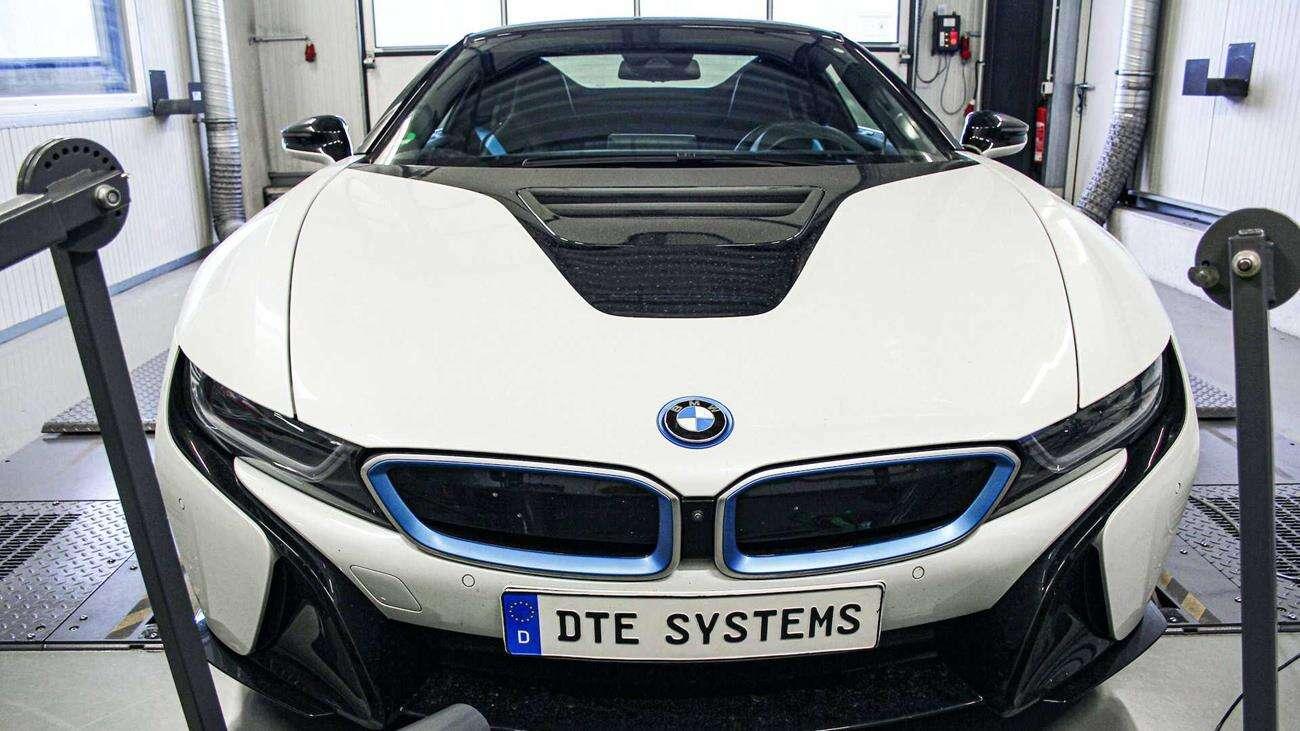 BMW i8, podkręcanie BMW i8, tuning BMW i8, i8 tuning, wzrost mocy BMW i8, spalanie BMW i8