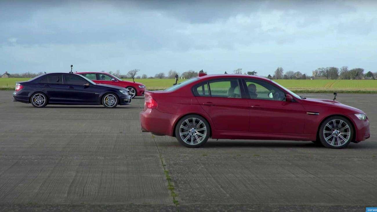 BMW M3, AMG C63, Audi RS4, wyścig V8, bitwa silniki V8,