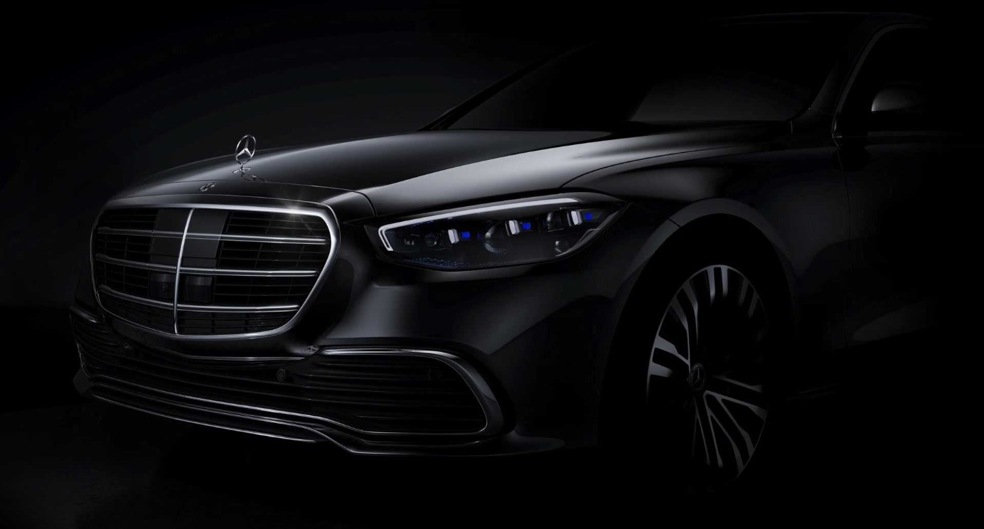 Nowa Klasa S mercedes, Mercedes Klasy S 2021, teaser Klasy S Mercedes, Mercedes S zapowiedź