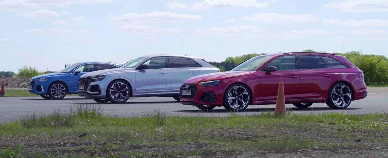 Pojedynek trzech Audi RS o różnych silnikach