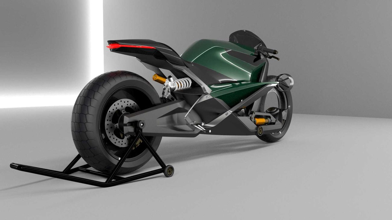 A gdyby tak Bentley stworzył elektryczny motocykl?
