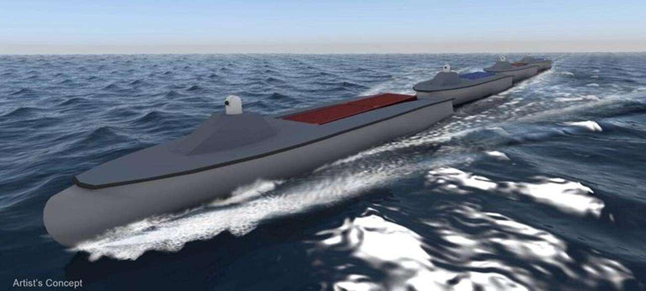 Bezzałogowe statki w formacji pociągu, czyli plany Marynarki USA