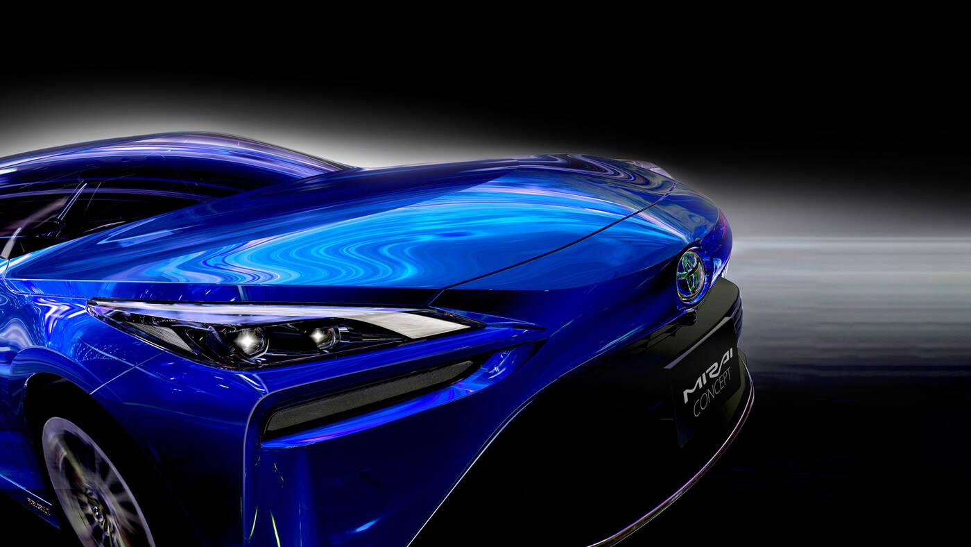 Toyota Mirai, nowa Toyota Mirai, Toyota Mirai nowej generacji, prototyp Toyota Mirai,