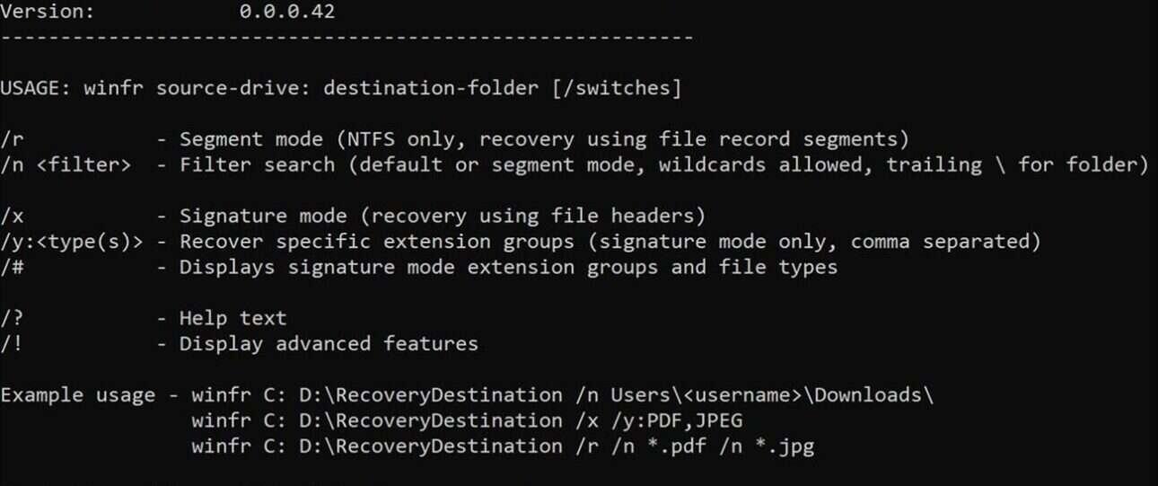Windows File Recovery pomoże w odzyskaniu utraconych danych