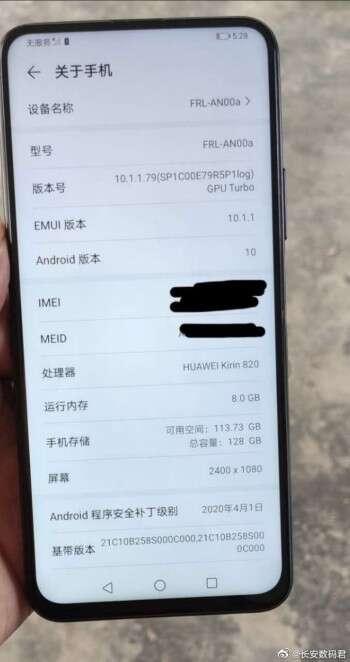 specyfikacja Huawei Enjoy 20, zdjęcie Huawei Enjoy 20