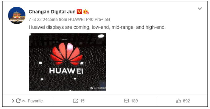 monitory Huawei, ekrany Huawei