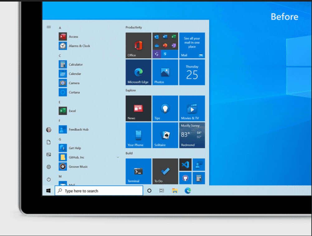 menu start, windows 10 menu start
