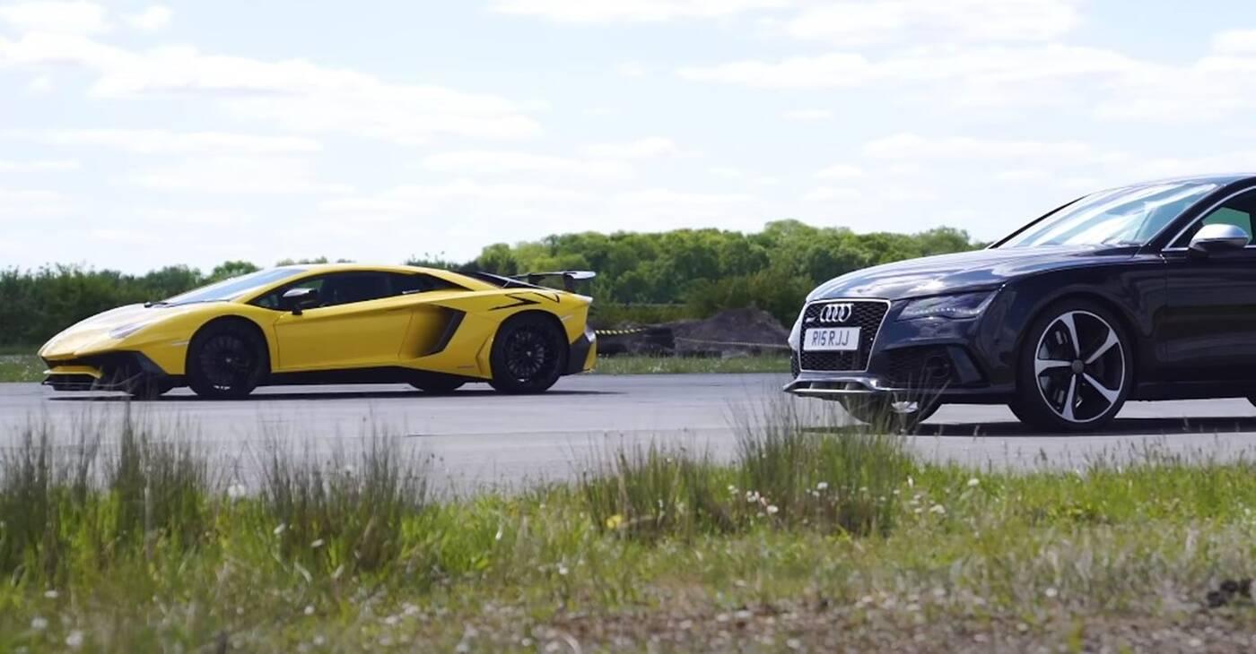 Czy podkręcone Audi RS7 da radę Lamborghini Aventador SV?