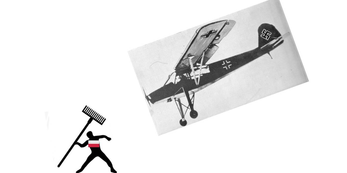 O Polaku, który zniszczył nazistowski samolot grabiami