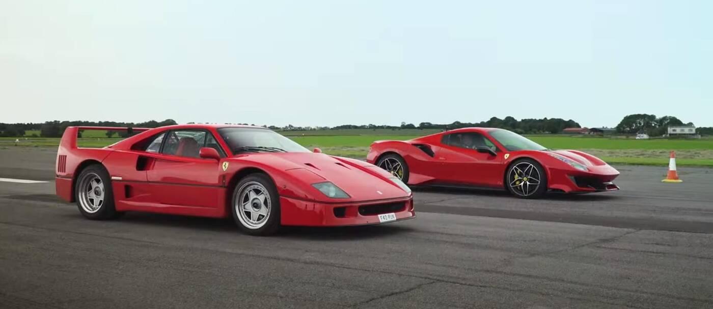 Pojedynek starego z nowym, czyli Ferrari F40 kontra 488 Pista Spider