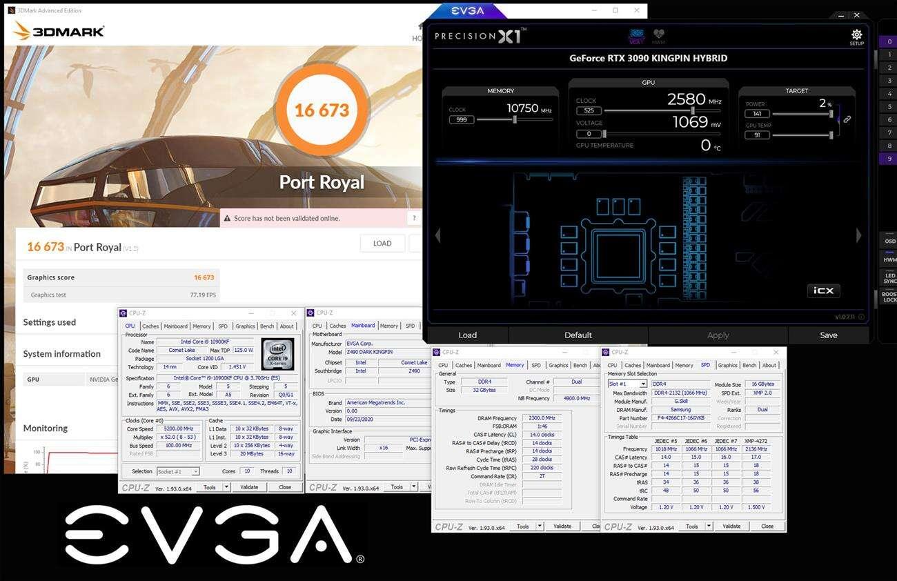 OC EVGA RTX 3090 KINGPIN