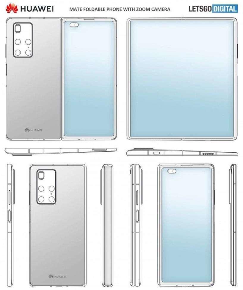 smartfon Huawei Mate X2, wygląd Huawei Mate X2
