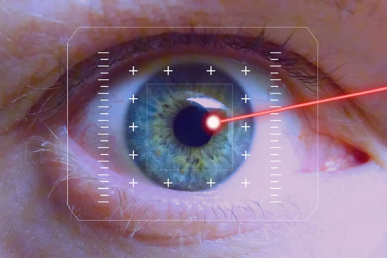 laser, oczy