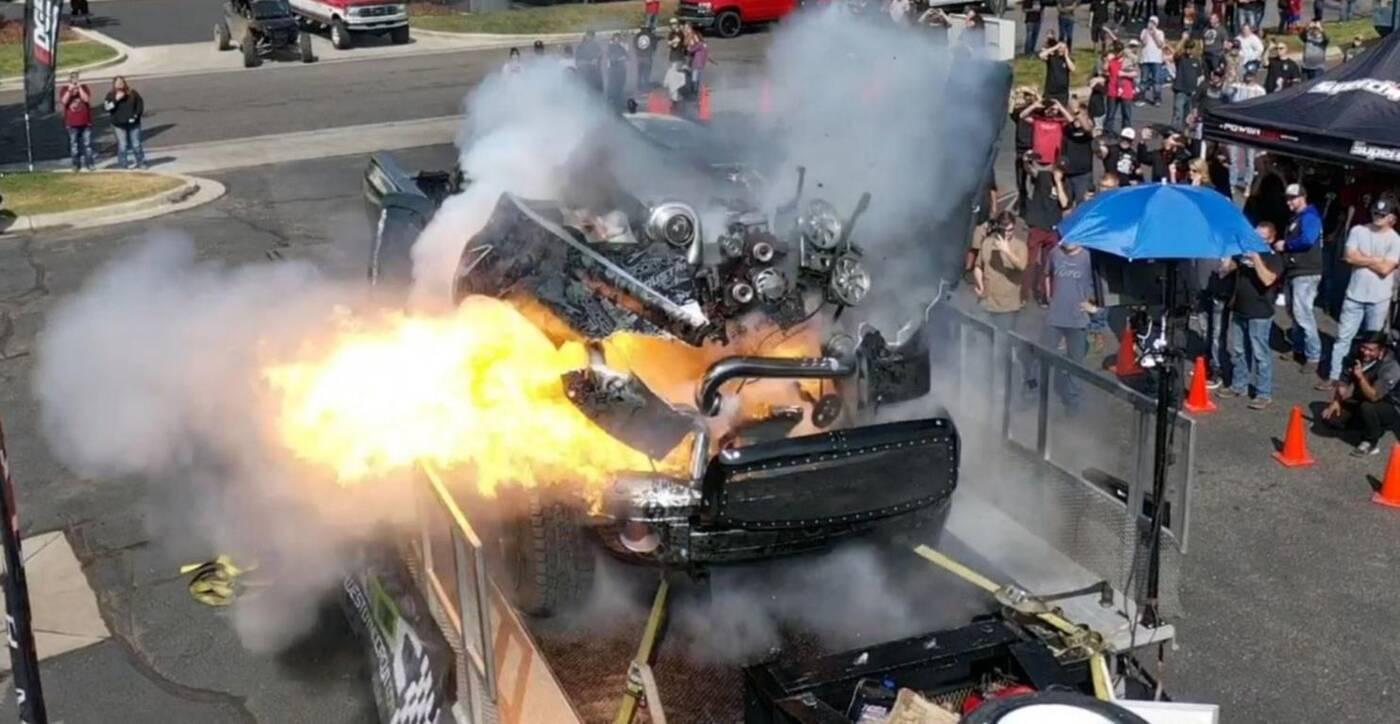 hamownia wybuch test pickup silnik diesla