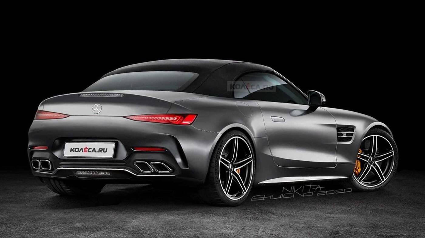 Posłuchajcie silnika zakamuflowanego Mercedesa SL 2022
