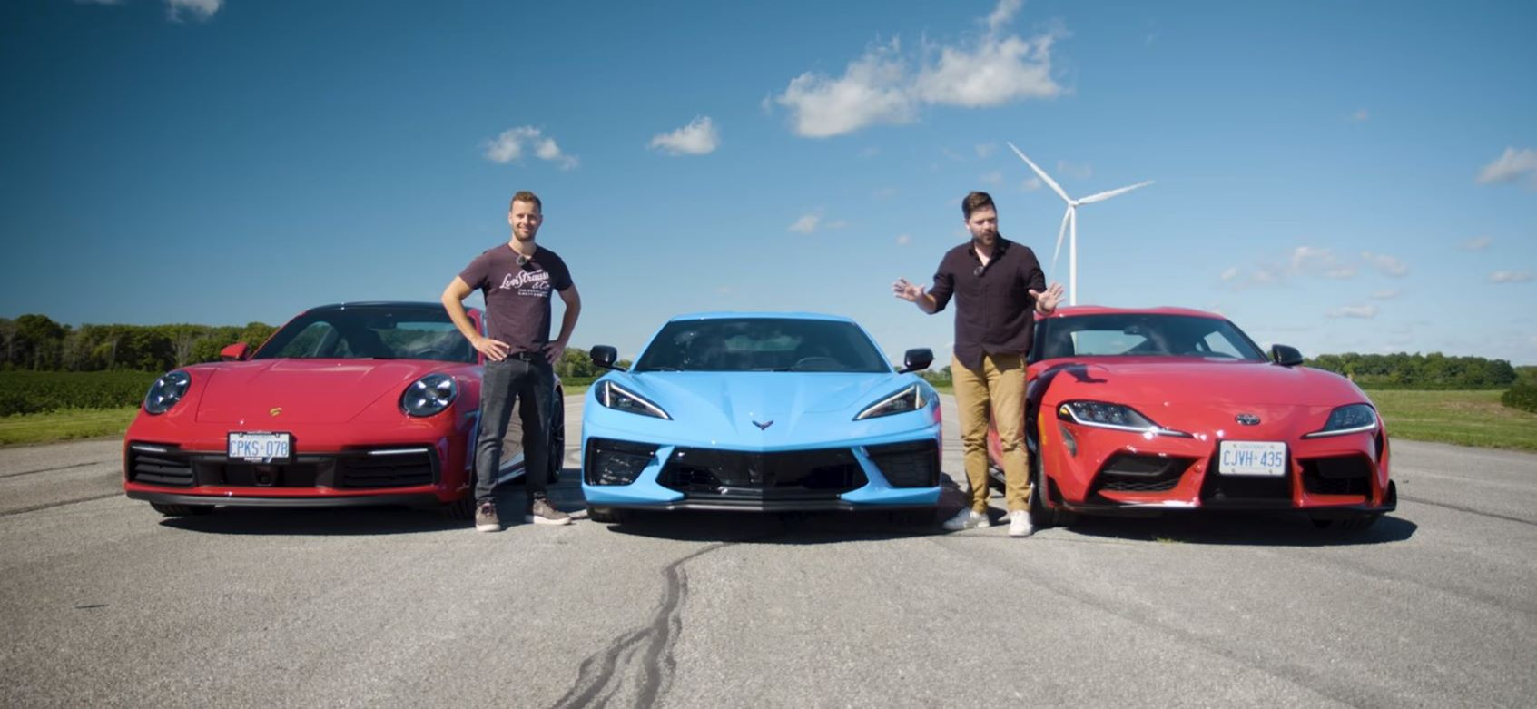Nowa Supra, Corvette C8 i Porsche 911 Carrera S na jednym torze