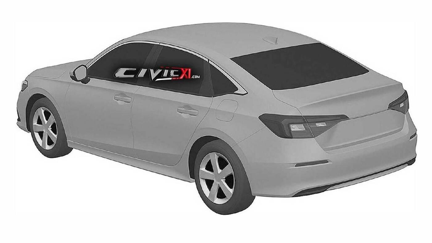 patenty nowy sedan Honda Civic