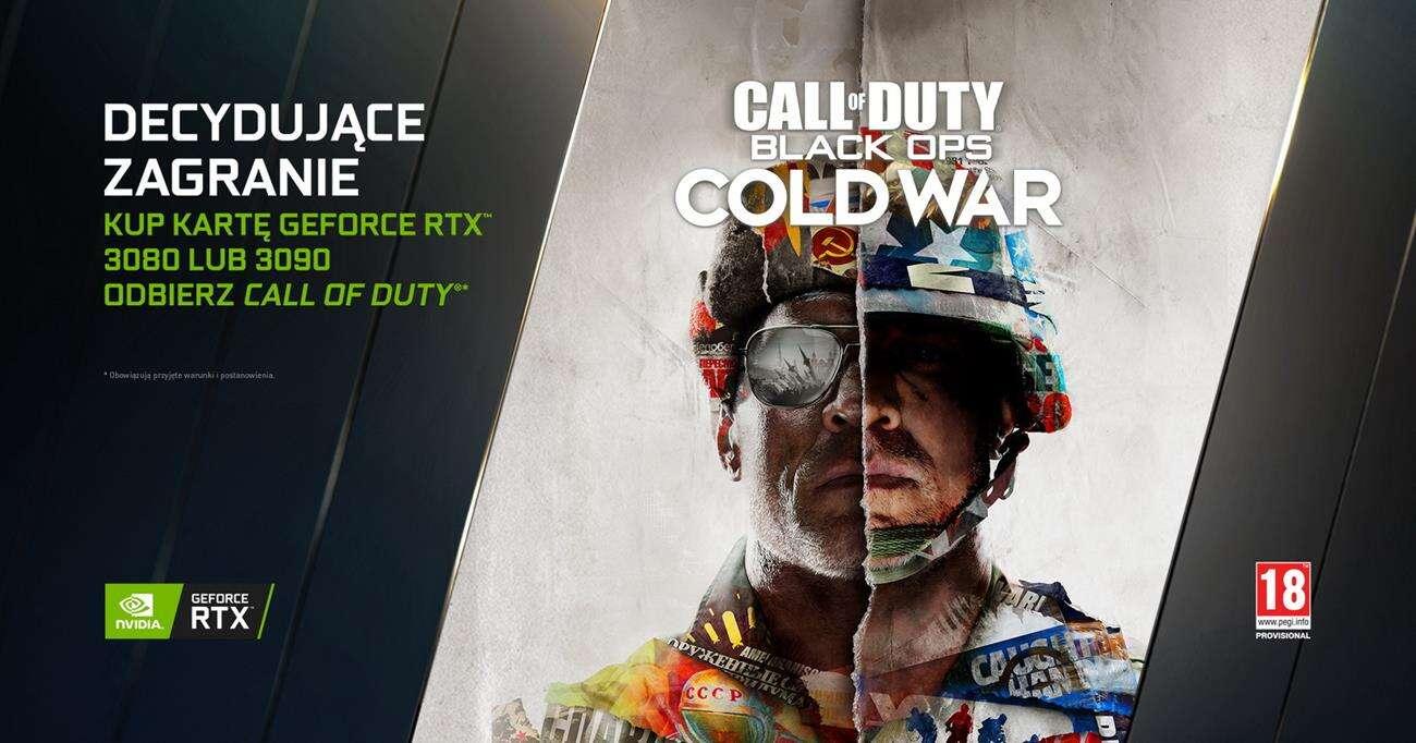 Przy zakupie RTX 3080 i RTX 3090 otrzymacie Call of Duty: Black Ops – Cold War