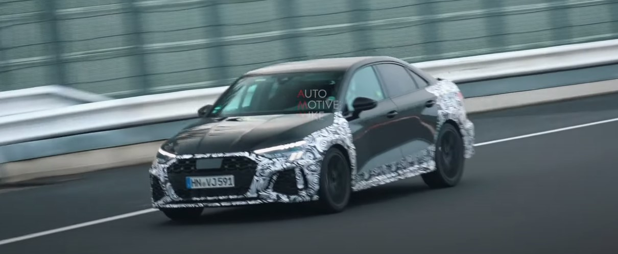 Sedan Audi RS3 wyszpiegowany na Nurburgring