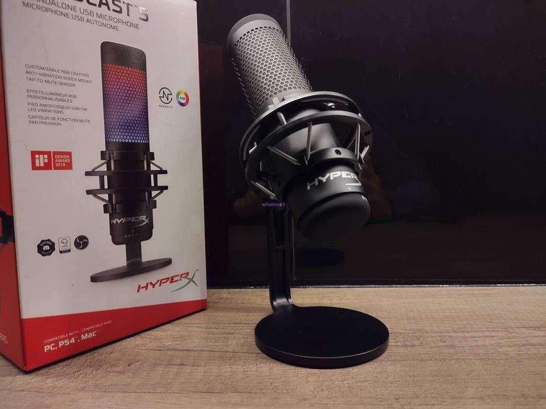 Test mikrofonu HyperX QuadCast S