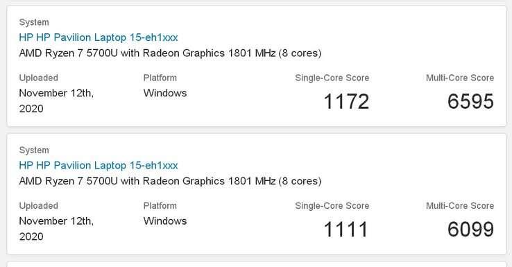 wydajność AMD Ryzen 7 5700U