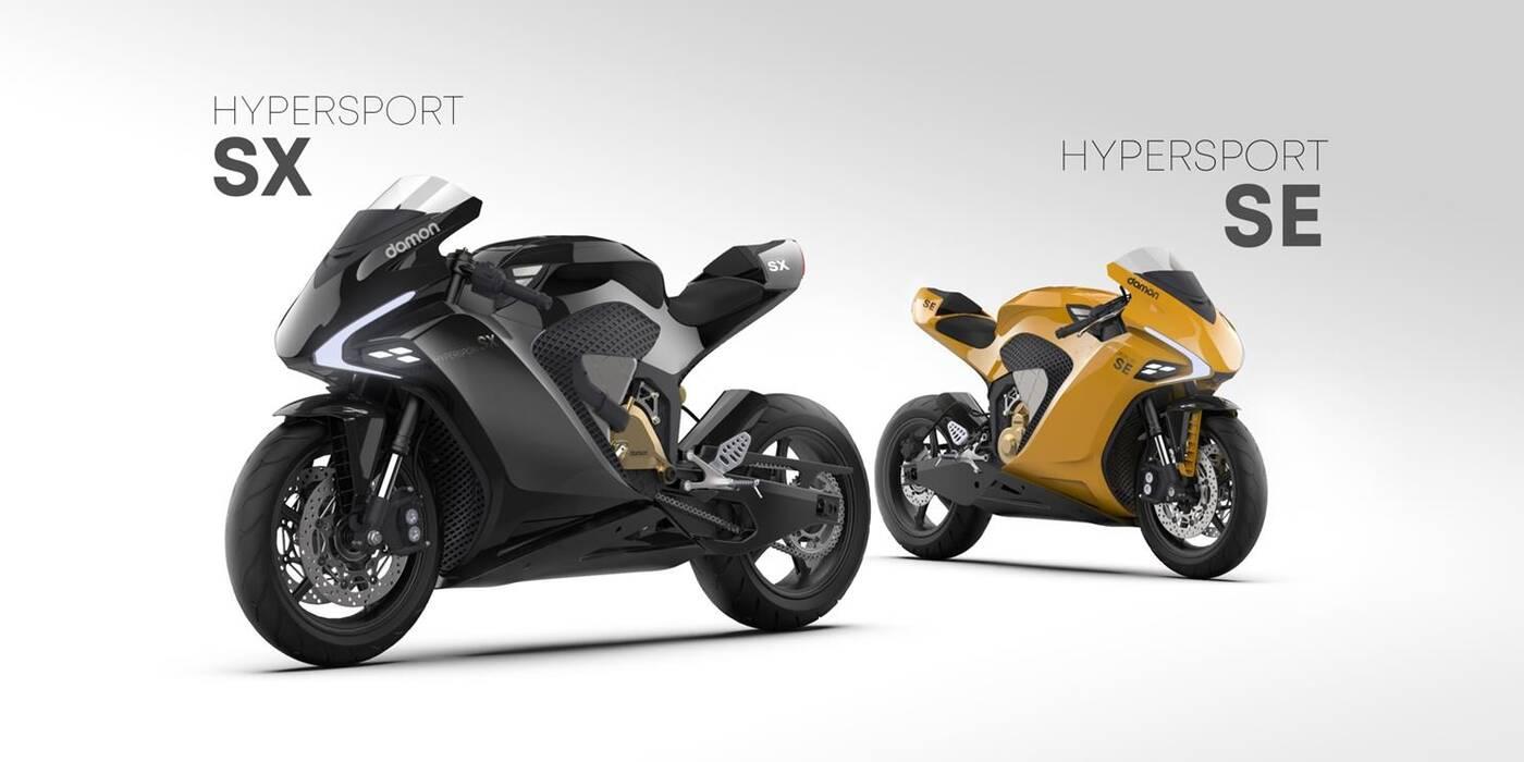 Dwa elektryczne motocykle HyperSport Damon będą bazować na autorskim HyperDrive