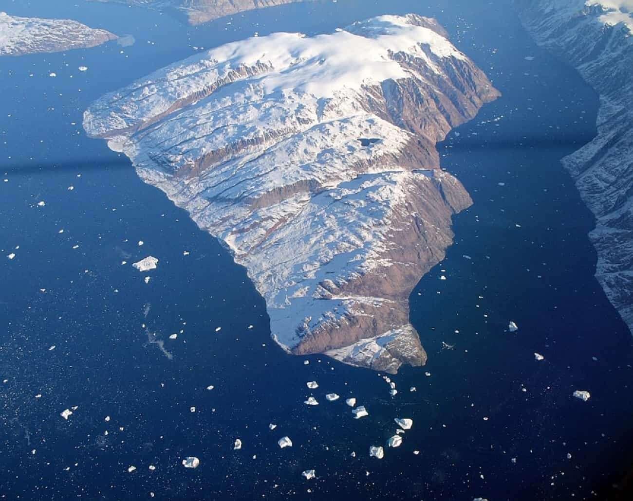 jezioro na grenlandii