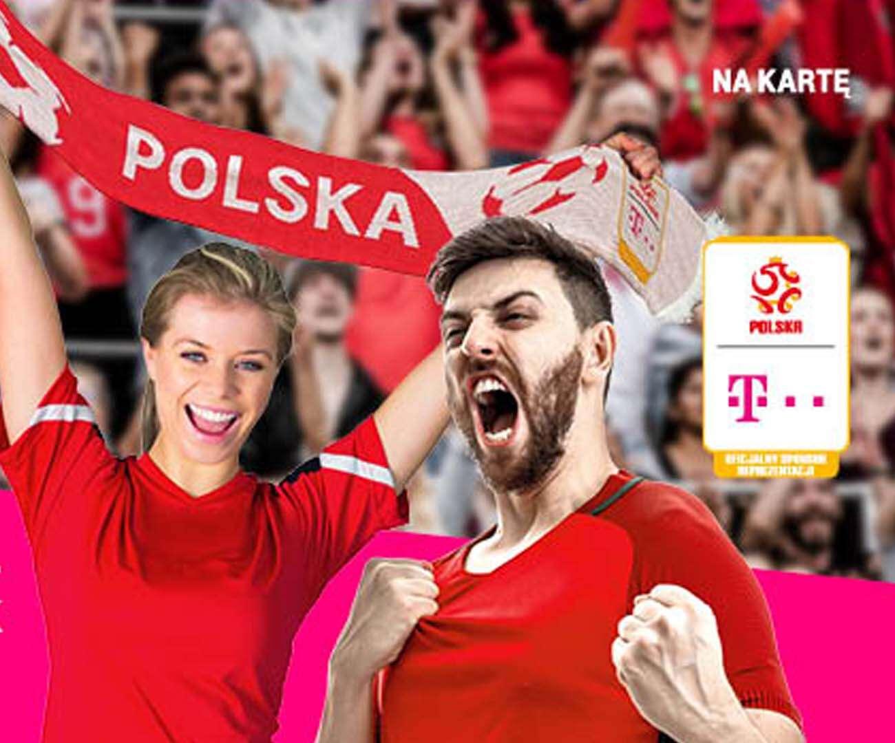 Piłkarski szalik od T-Mobile dla klientów na kartę