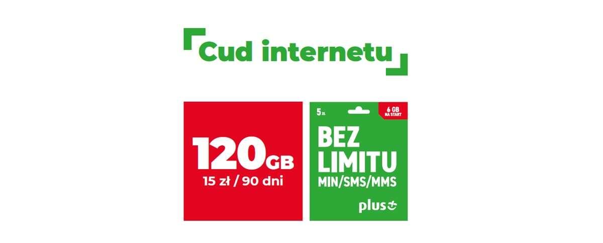 Dużo Internetu w Plusie na kartę