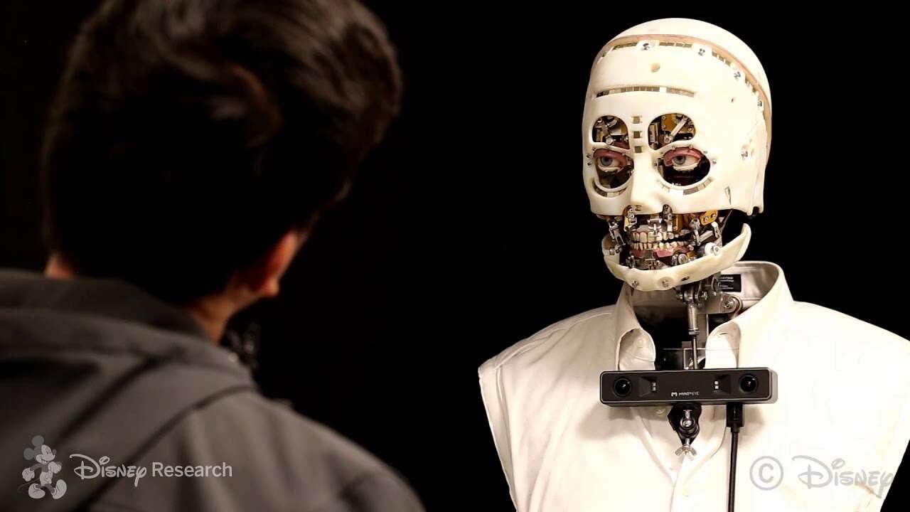 Robot naśladujący ludzkie spojrzenie