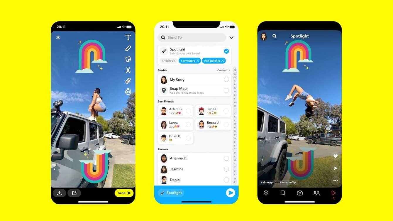 Snapchat Spotlight do złudzenia przypomina TikToka. I to nie przypadkowo