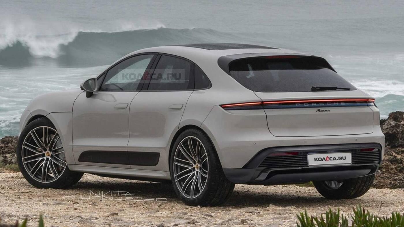 Spójrzcie na elektryczne Porsche Macan wyrenderowane na podstawie glinianej rzeźby