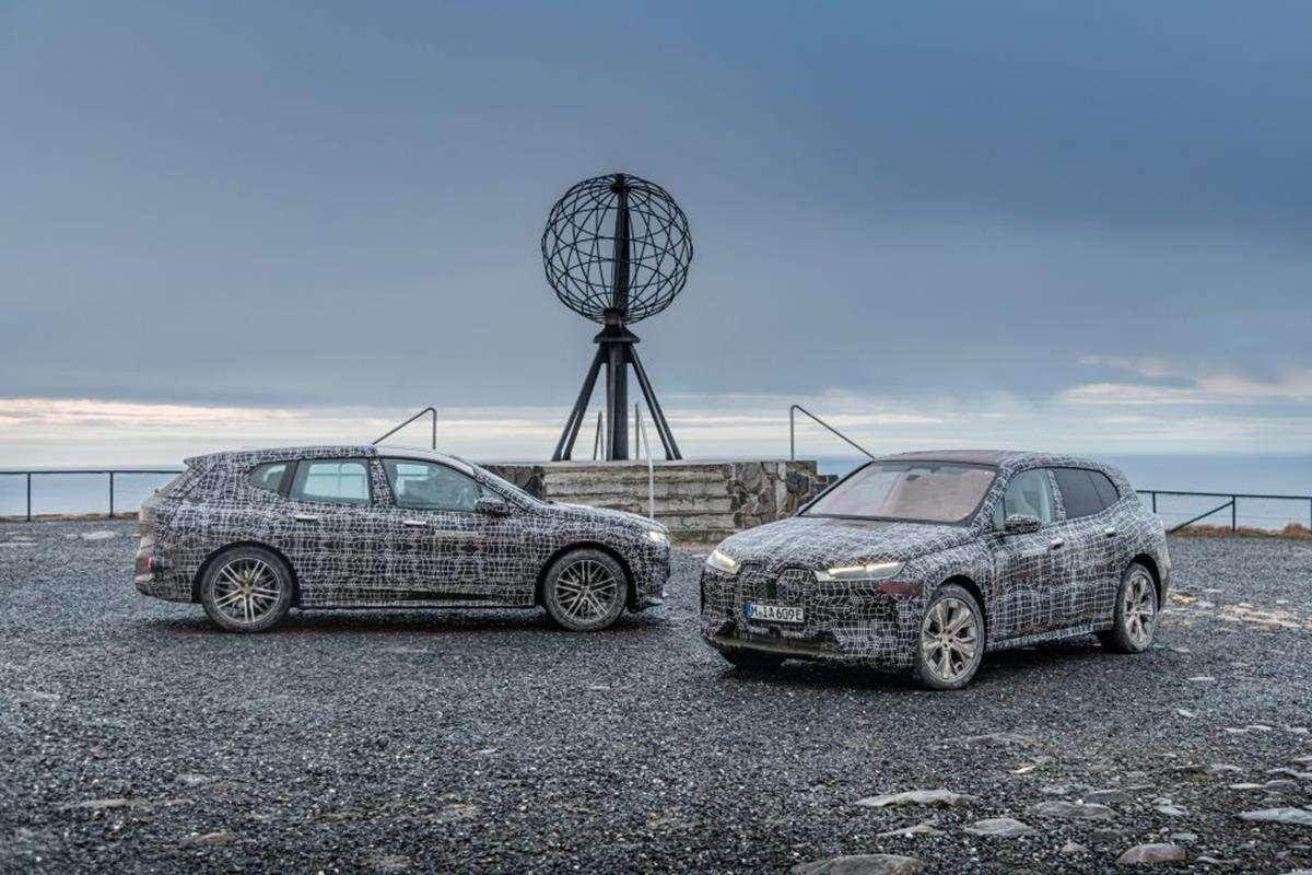 BMW testuje elektrycznego iX, BMW iX, testy BMW iX, zimowe testy BMW iX