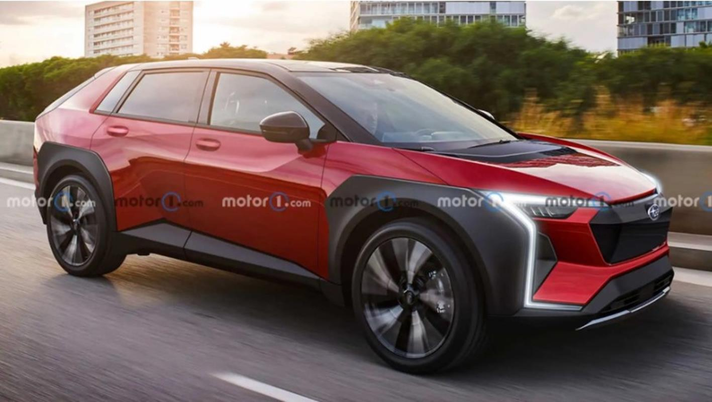 Elektryczny crossover Subaru Evoltis,Subaru Evoltis, render Subaru Evoltis, crossover Subaru Evoltis,