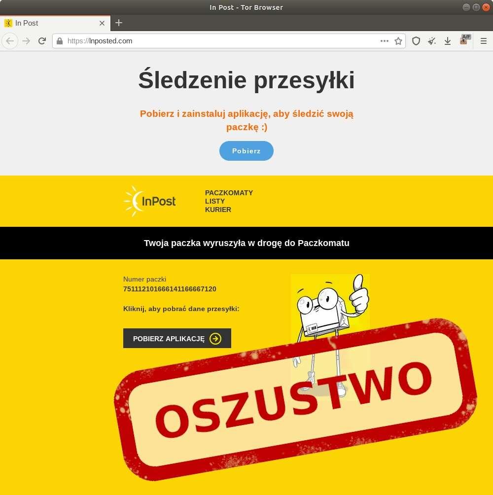 Fałszywa aplikacja InPost - musicie na nią uważać!