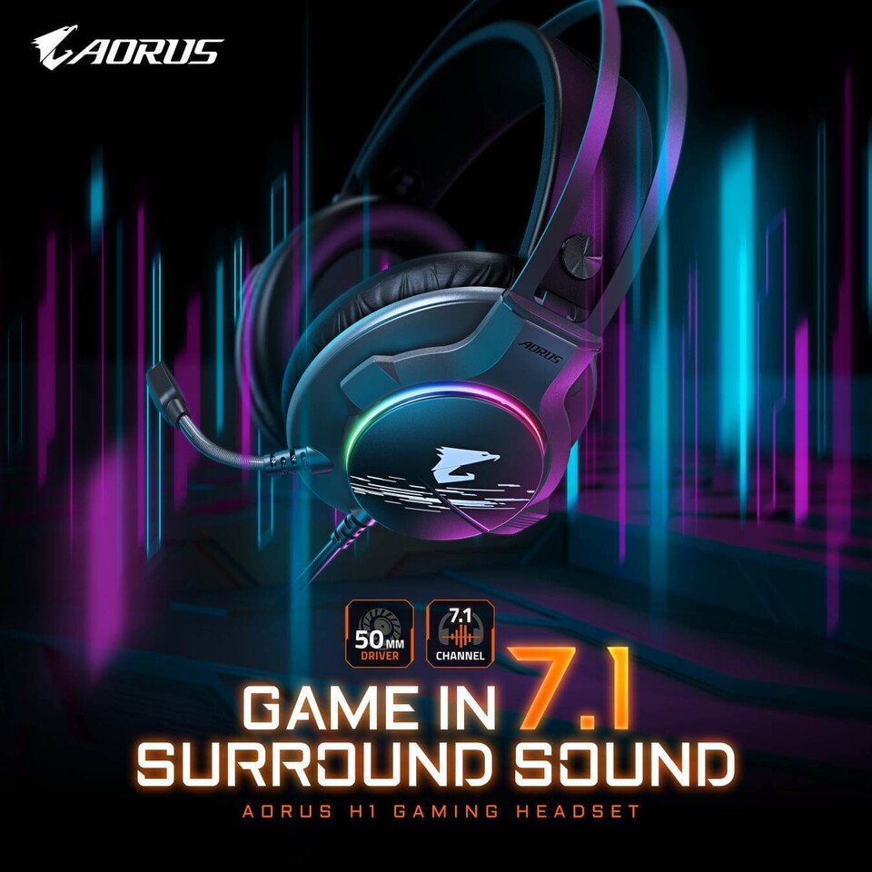 Gigabyte prezentuje headset Aorus H1