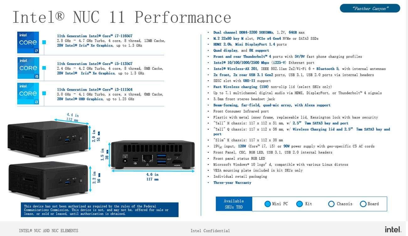 Intel NUC 11 Performance to nowy mini PC z procesorem Tiger Lake