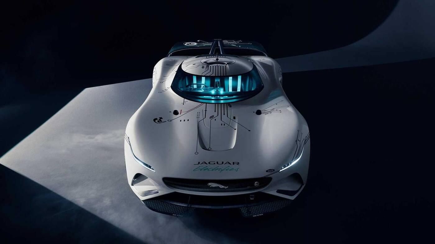 Jaguar Vision Gran Turismo SV, Vision Gran Turismo SV, elektryczny hipersamochód Jaguara, replika Vision Gran Turismo SV,