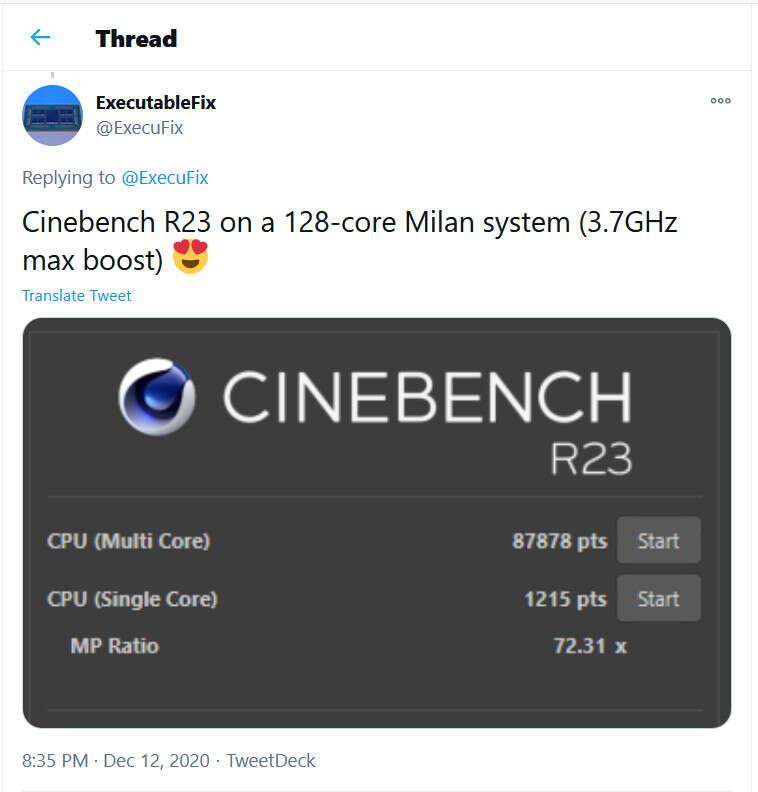 cinebench r23 128 rdzeni
