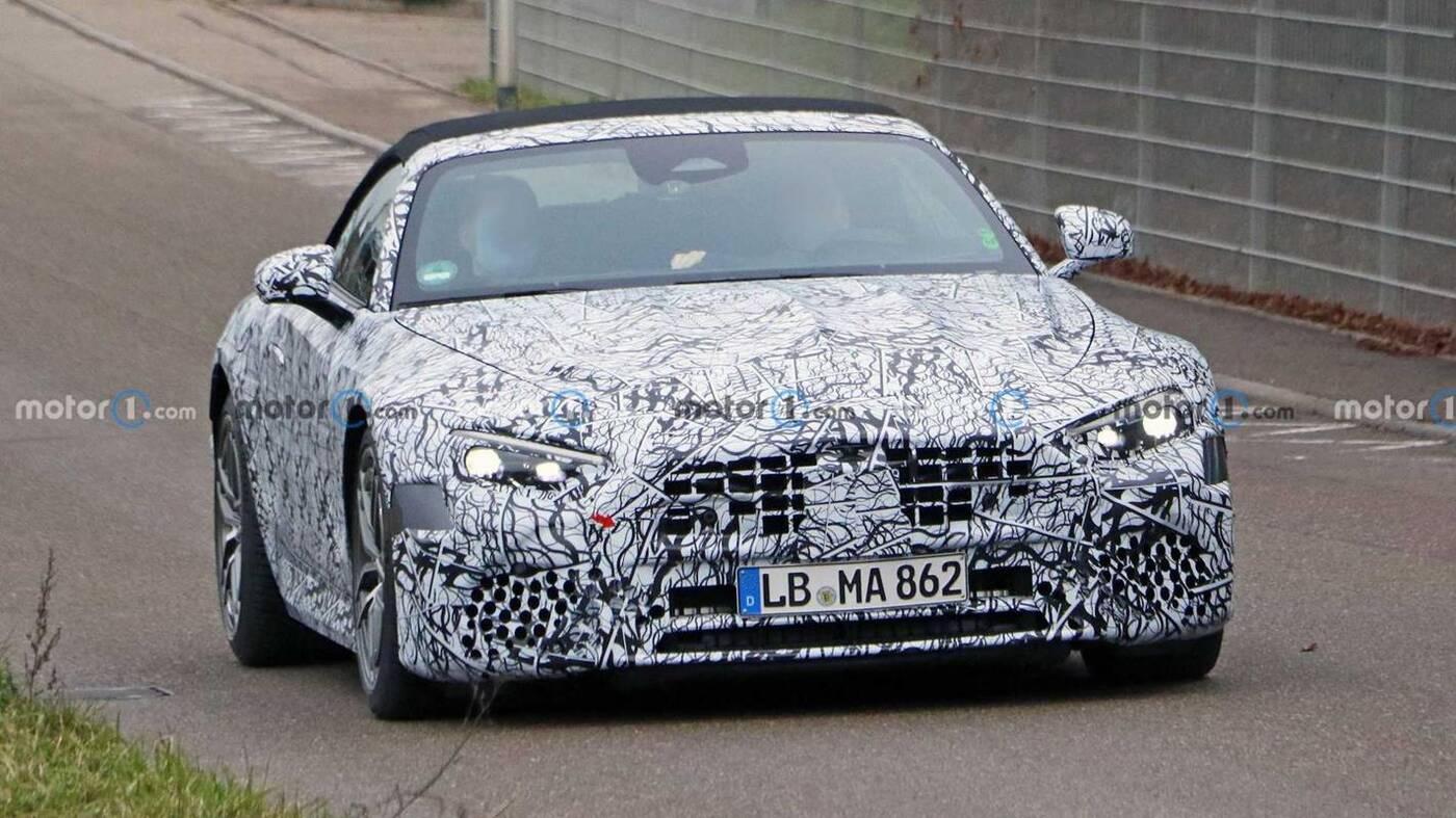 dach Mercedesa SL 2022, Mercedes SL 2022, SL 2022, nowa generacja Klasy SL, zdjęcia Klasy SL nowej generacji