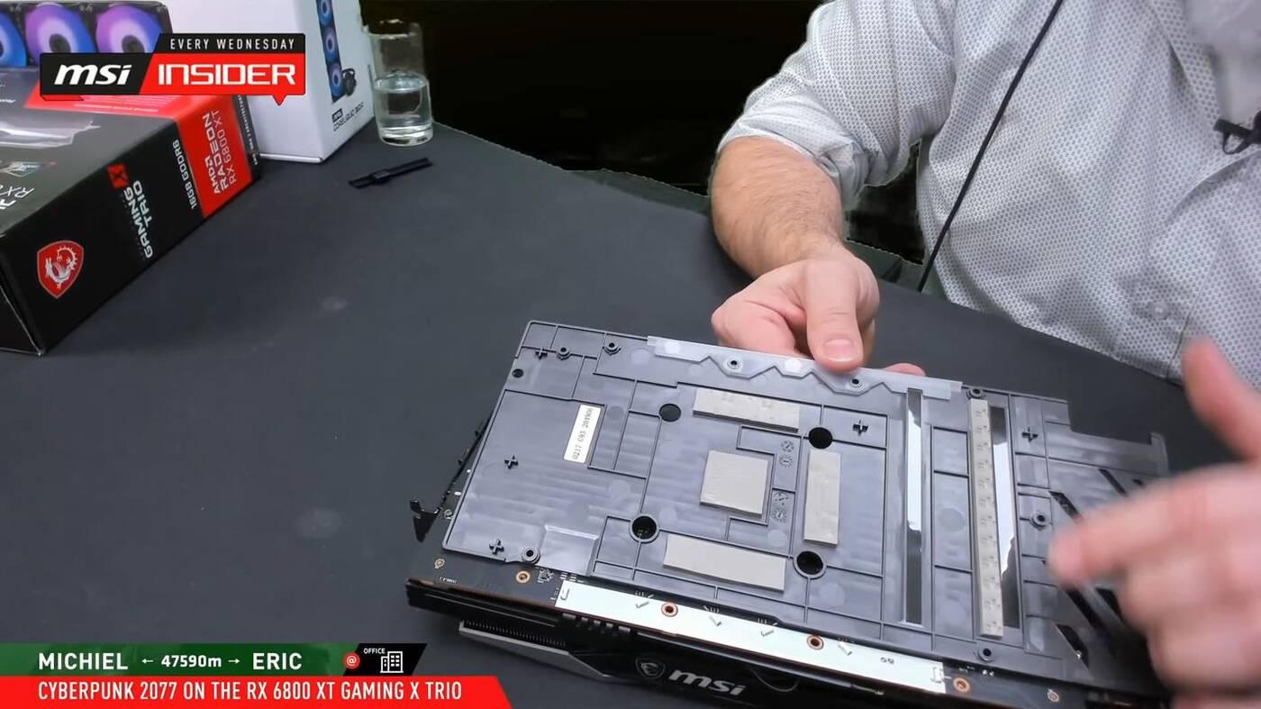 Radeon RX 6800 XT GAMING X TRIO od MSI w szczegółach
